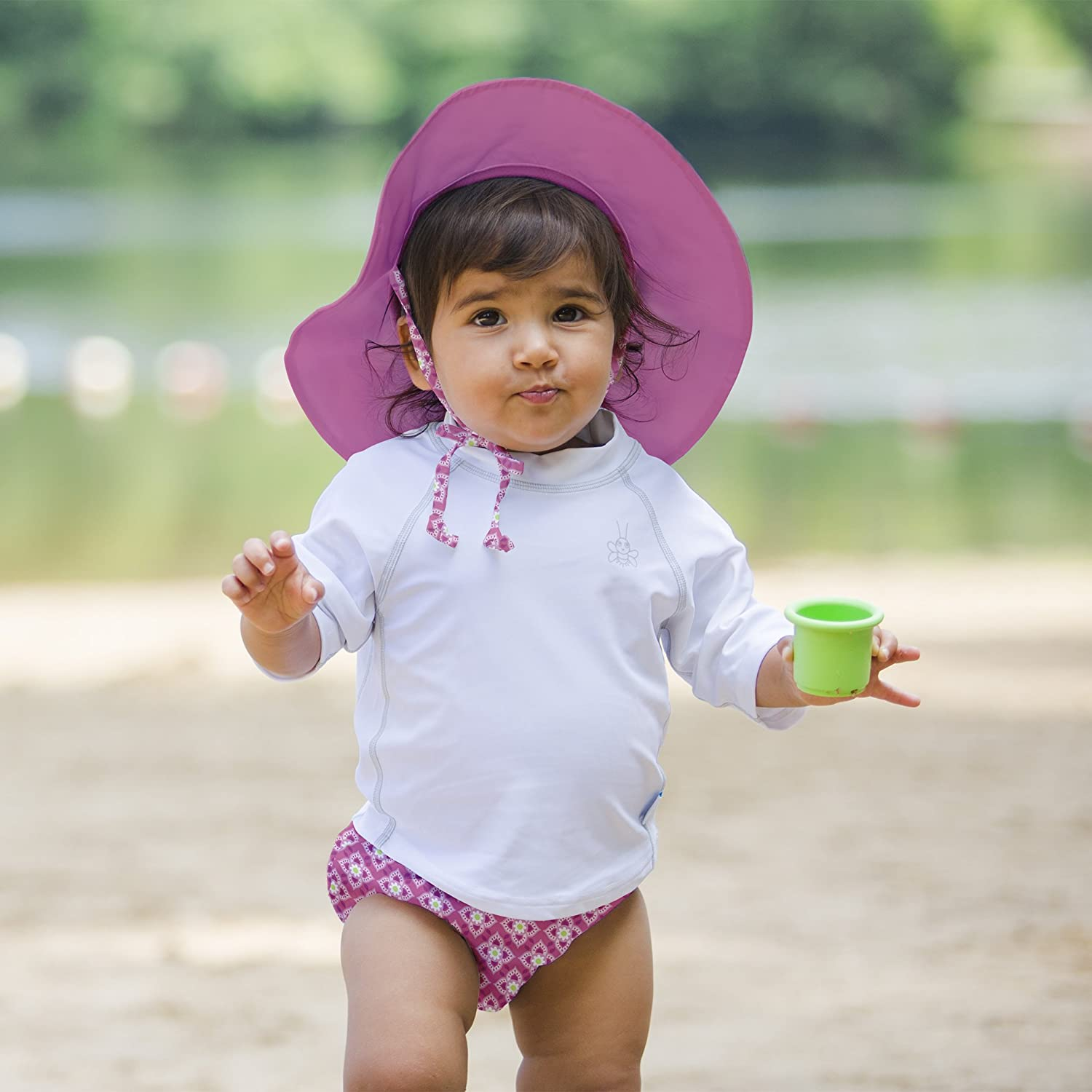 i play by green sprouts Boys Brim Sun Protection Hat