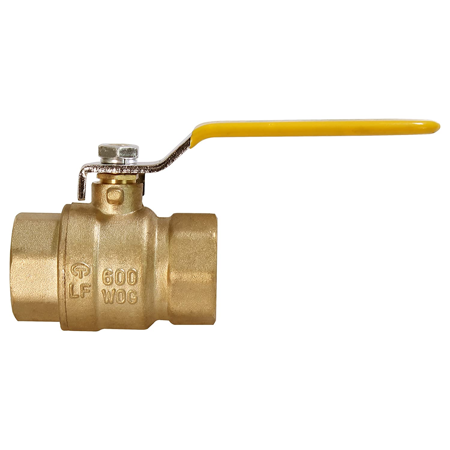 Everflow Supplies 600T001-NL Lead Free Full Port Forged Brass Ball Valve with Female Threaded IPS Connections 1