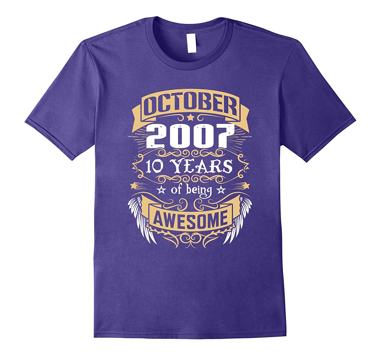 October 2007 - 10th Birthday T-shirt-TJ
