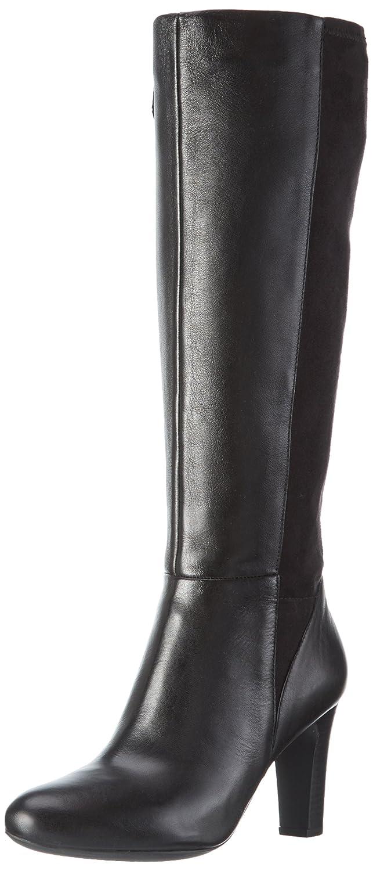 Geox D Inspiration Stiv D D64G9D08515, Bottes Hautes Classique Femme, Noir (Black C9999), 36 EU