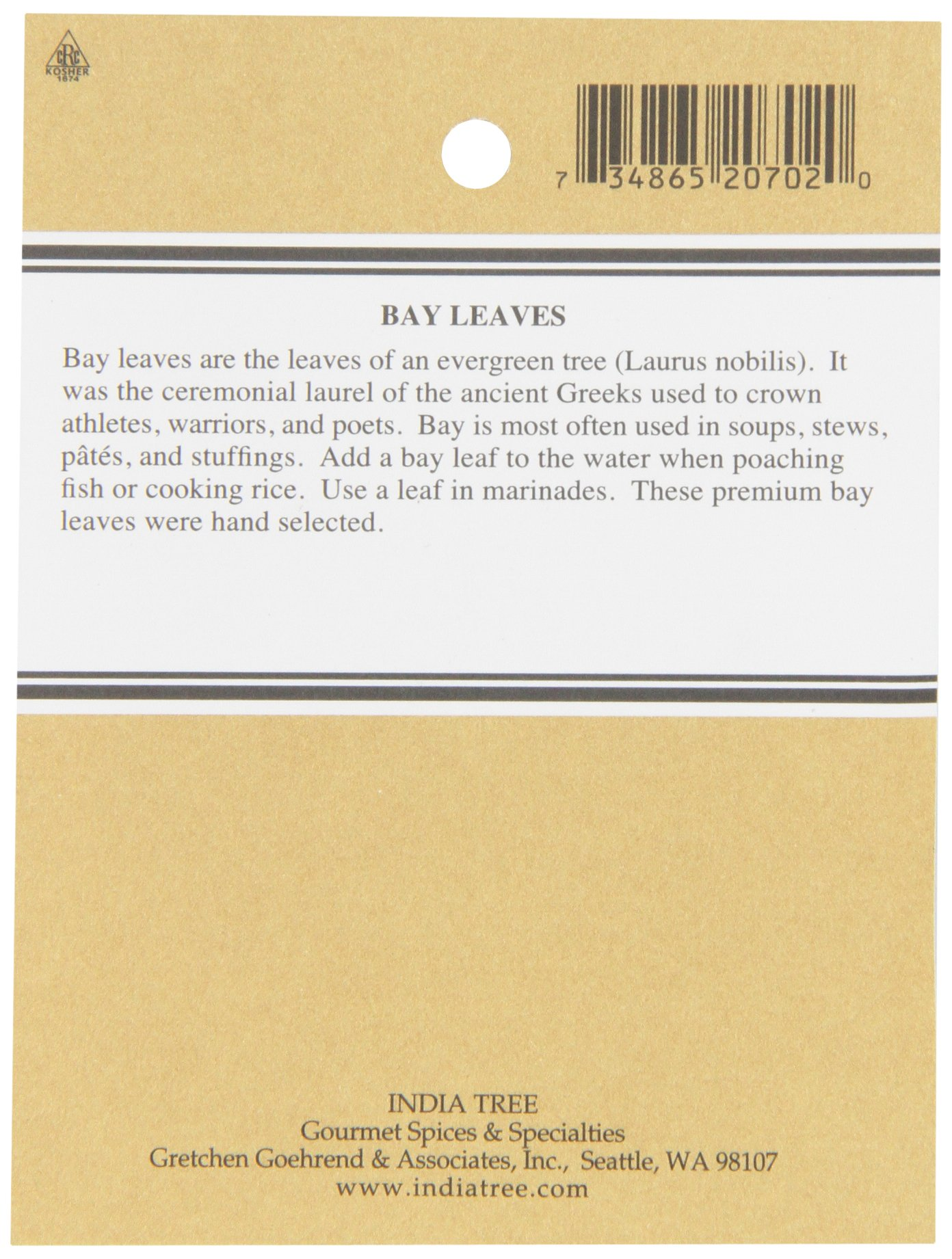 India Tree Bay Leaves, 0.15 oz (Pack of 4) by India Tree (Image #2)