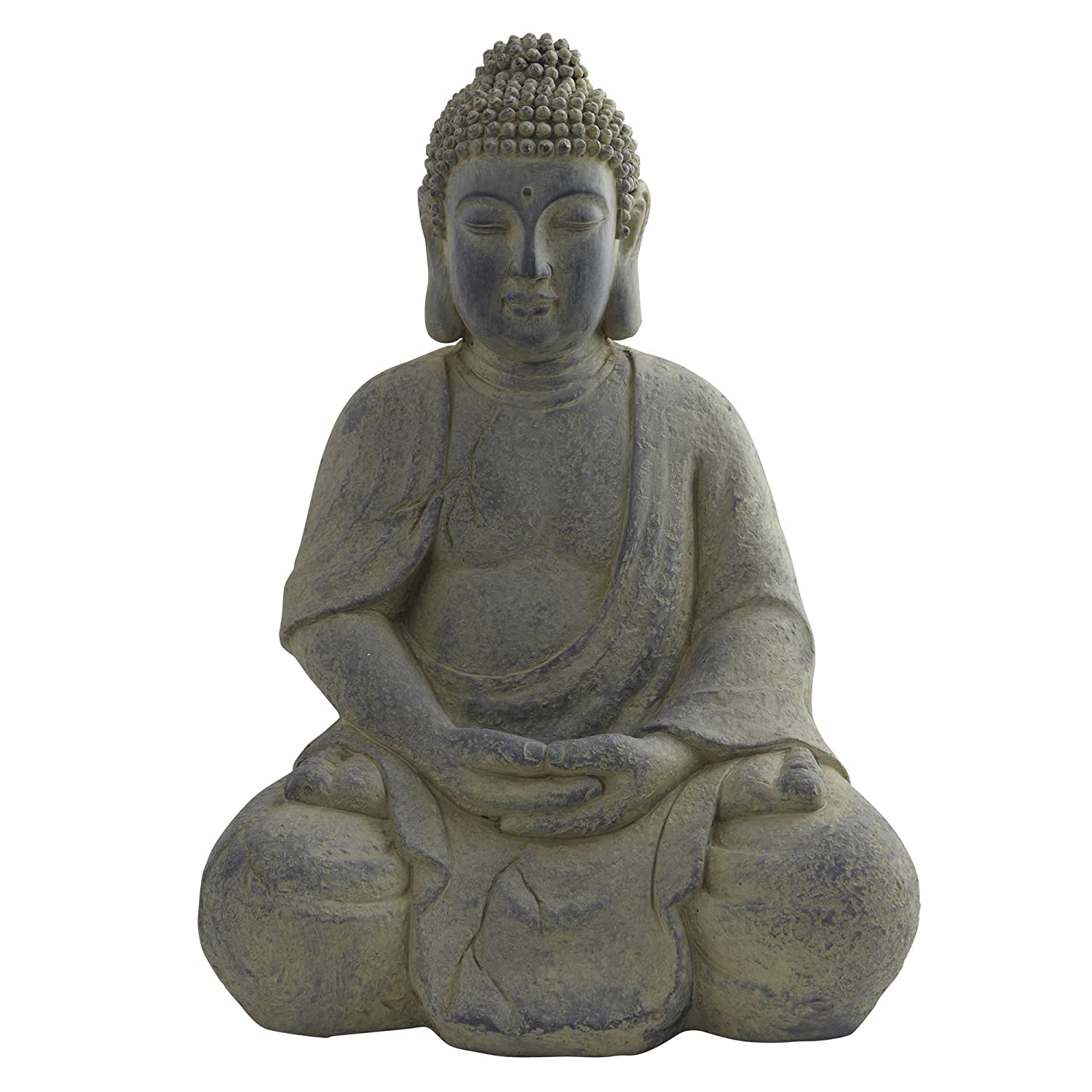 Nearly Natural 4984 Indoor/Outdoor Buddha Statue, Gray