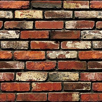 Indian Royals Natural Brick Environmental Protection Pvc Adhesive Back Glue Easily Removable Wallpaper Vinyl Multicolour