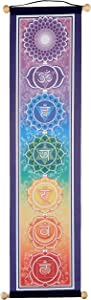 """Mandala Connections 6"""" X 24"""" Small Chakra Banner, by Bryon Allen"""