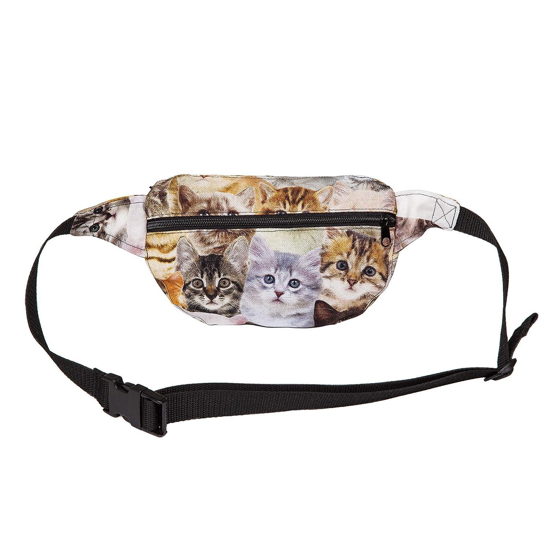 H/üfttasche Bauchtasche Baumwollgewebe mit Katzen Siebdruck G/ürteltasche Umh/ängetasche Hipbag
