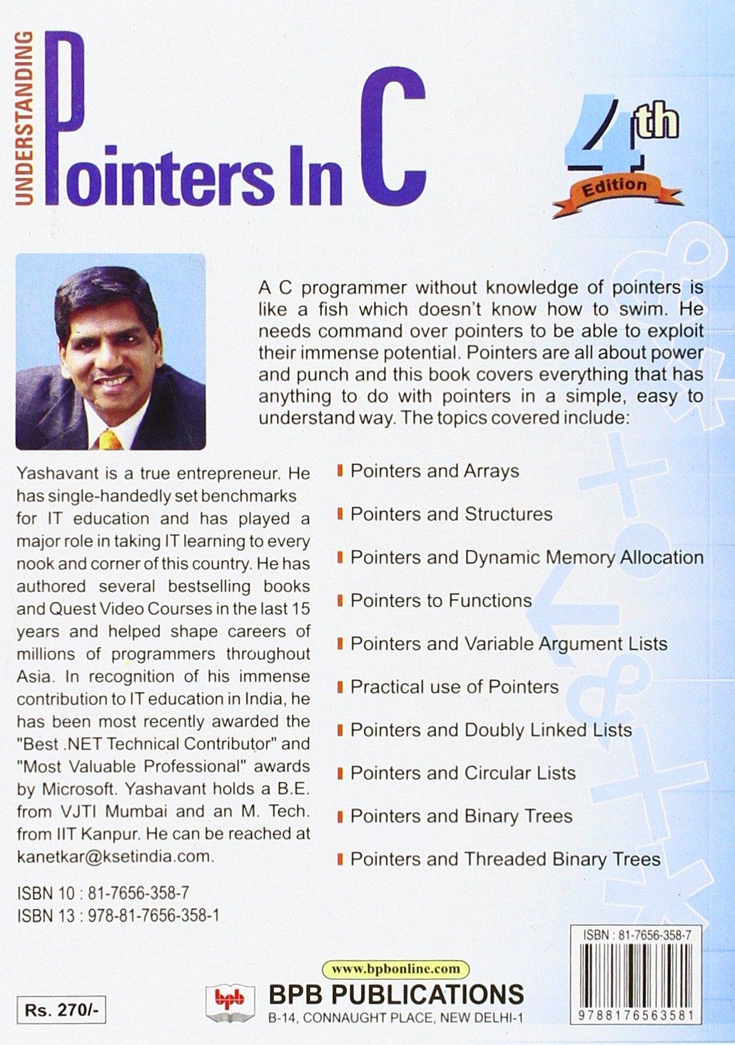 Pointers In C Yashwant Kanetkar Ebook