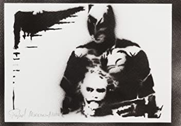 Batman And Joker Poster Handmade Graffiti Street Art - Artwork