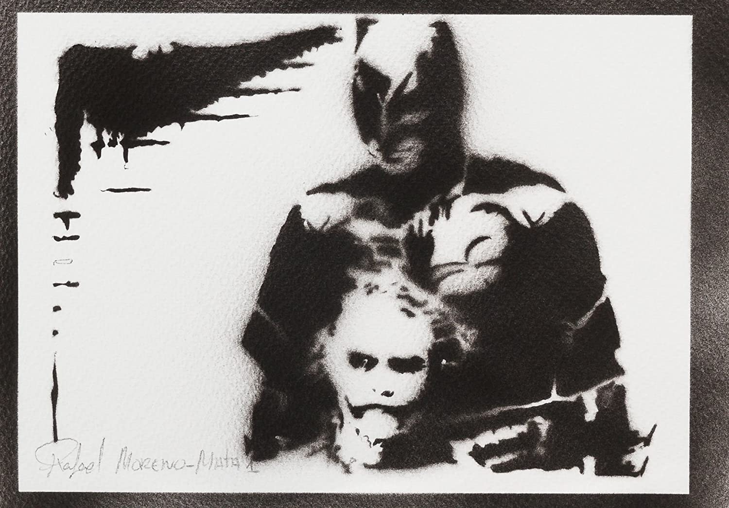 Batman E Joker Handmade Street Art - Artwork - Poster