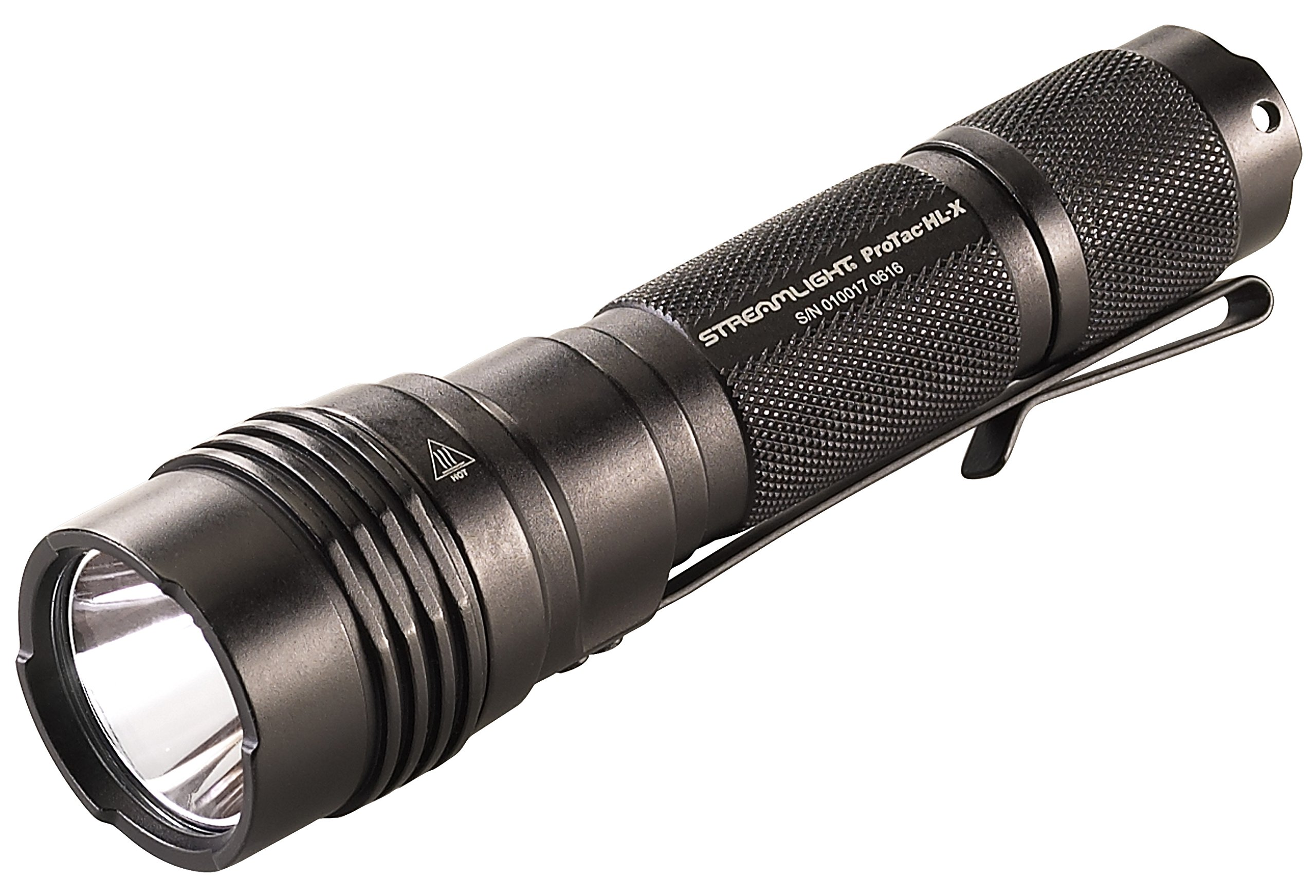 Streamlight 88065 Pro Tac HL-X 1,000 Lumen Professional Tactical Flashlight with High/Low/Strobe''Dual Fuel'' use 2x CR123A or 1 x 18650 Rechargeable Li-ion Batteries and Holster - 1000 Lumens