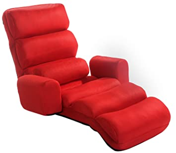 Delicieux Amazon.com: Merax Relaxing Foldable Lazy Sofa Chair With Pillow Stylish  Sofa Beds Lounge Chair (Red): Home U0026 Kitchen