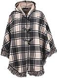 Ladies Women Warm fleece Fleecy Hooded Ponchos/Capes Hoodie Plus Size 12-32