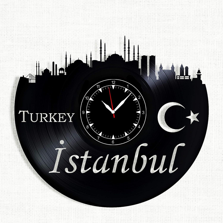 Istanbul City Vinyl Record Clock 12