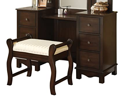 ACME 06552 2 Piece Annapolis Vanity Set, Espresso Finish