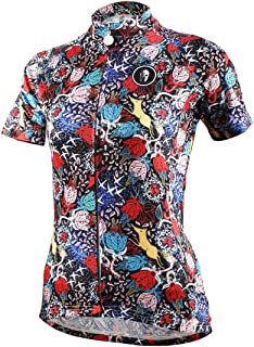 DuShow Frauen Short Sleeve Radfahren Jerseyshirt Quick Dry atmungsaktiv Mountain Kleidung Bike Top