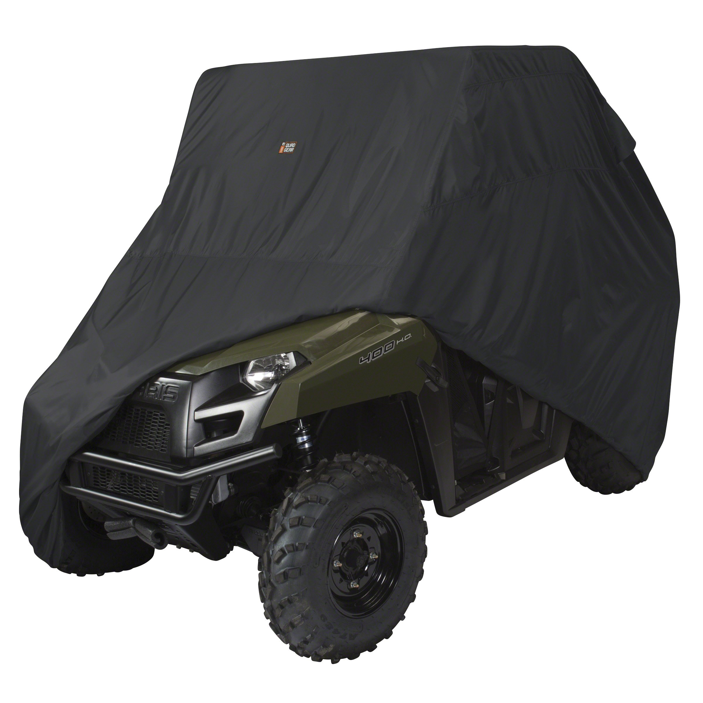 Classic Accessories 18-070-040401-00 Black QuadGear UTV Storage Cover (For Mid Size 2 Passenger UTVs Up To 115''L 62''W 70''H) by Classic Accessories (Image #1)