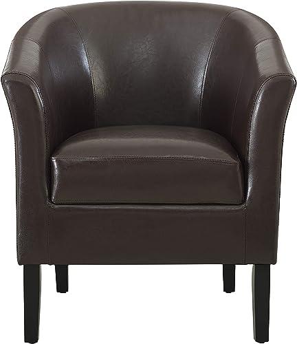 Linon Home Dcor Linon Home Decor Simon Club Chair, 33 x 28.25 x 25.5 , Brown