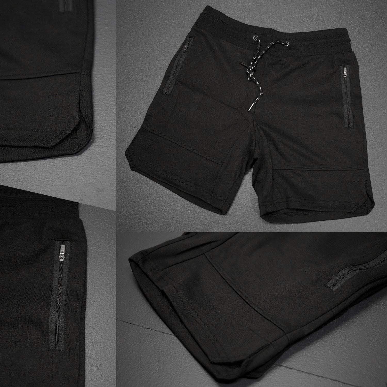 bodybuilding allenamento corsa Flyfirefly sport jogging Pantaloncini da uomo per palestra con tasca con cerniera fitness