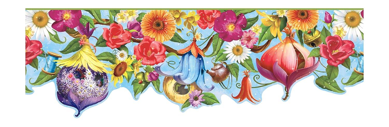 Blue Background York Wallcoverings Disney Kids DK5893BD Fairy House Border