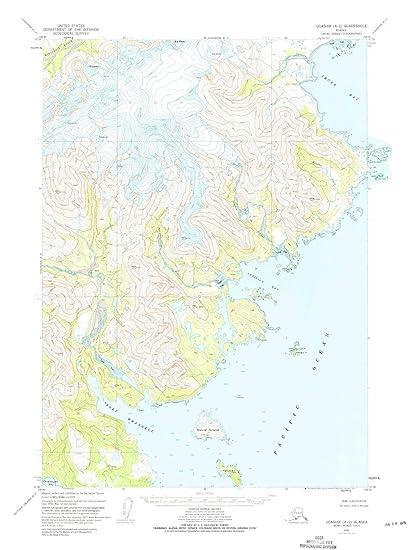 Amazon.com: Alaska Maps   1951 Ugashik, AK USGS Historical ...