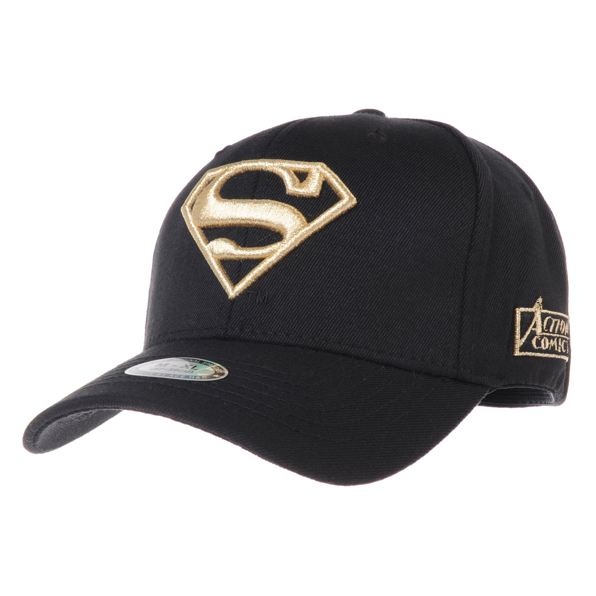 WITHMOONS Superman Shield Embroidery Cotton Baseball Cap AC3260 (Gold, M)