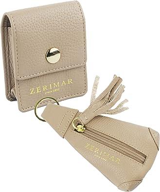Zerimar Pack Llavero Monedero y Portacables | Piel | Estuches de llaves | Carteras y monederos: Amazon.es: Zapatos y complementos