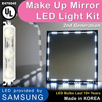crystal vision make up mirror led light kit provided by samsung for cosmetic mirror vanity mirror
