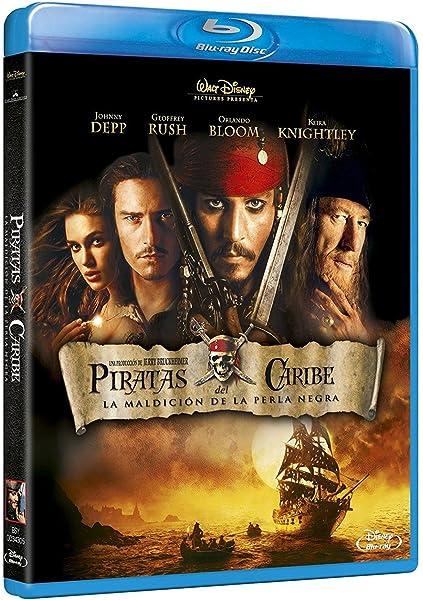 Piratas Del Caribe: La Maldición De La Perla Negra Blu-ray: Amazon ...