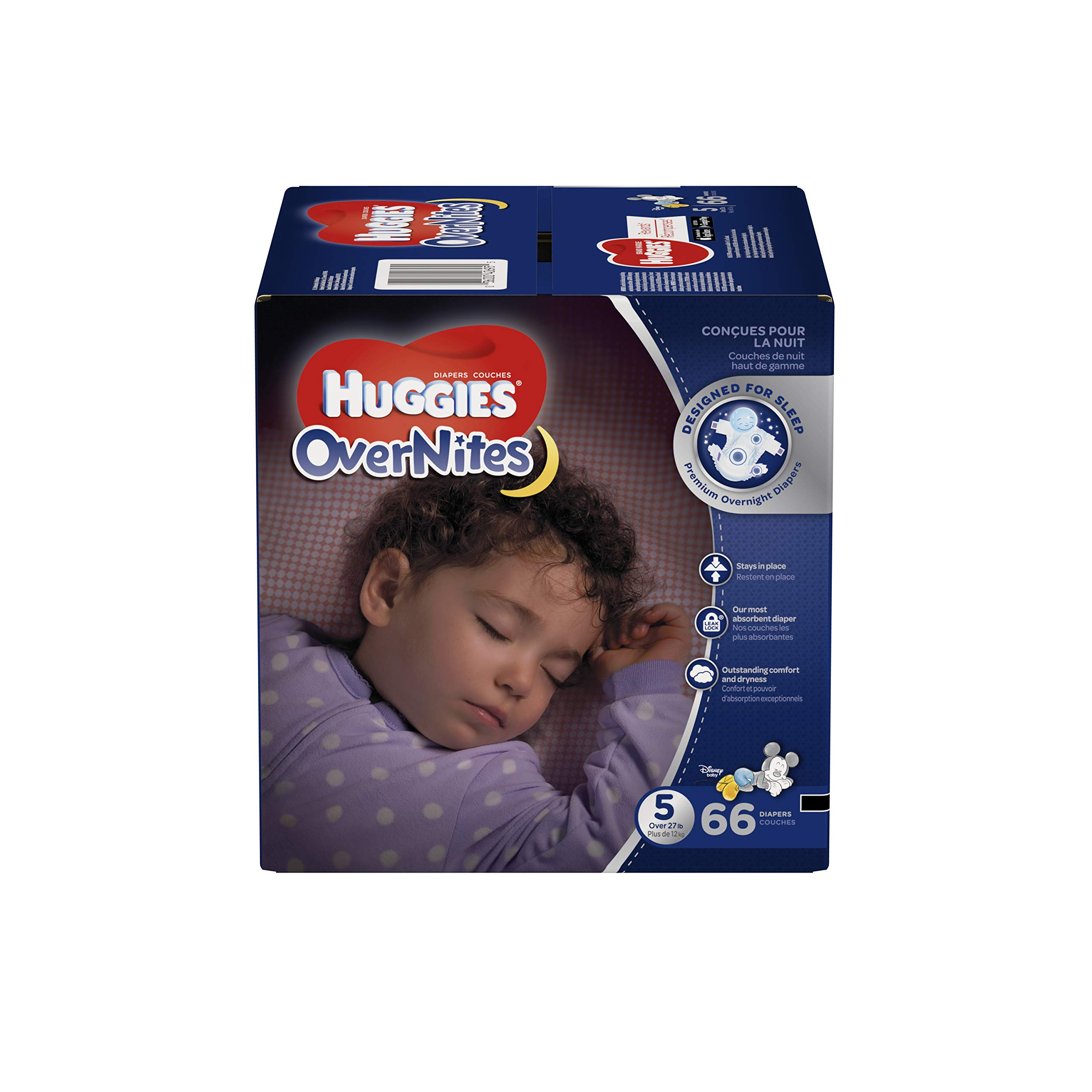 27+ lb. Economy Plus Pack Size 5 HUGGIES Little Movers Diapers 124 Ct