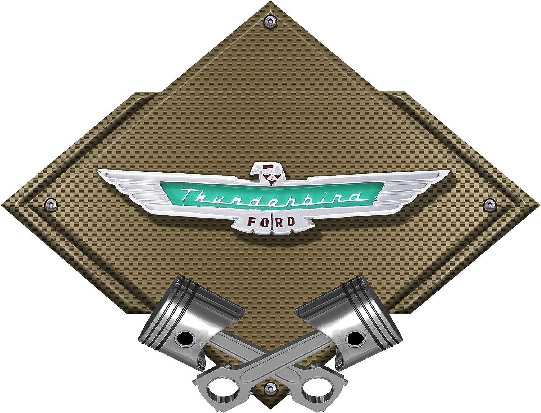 "1957 Ford Thunderbird Emblem Badge Heavy Duty Steel Metal Sign 20/"" X 4/"""