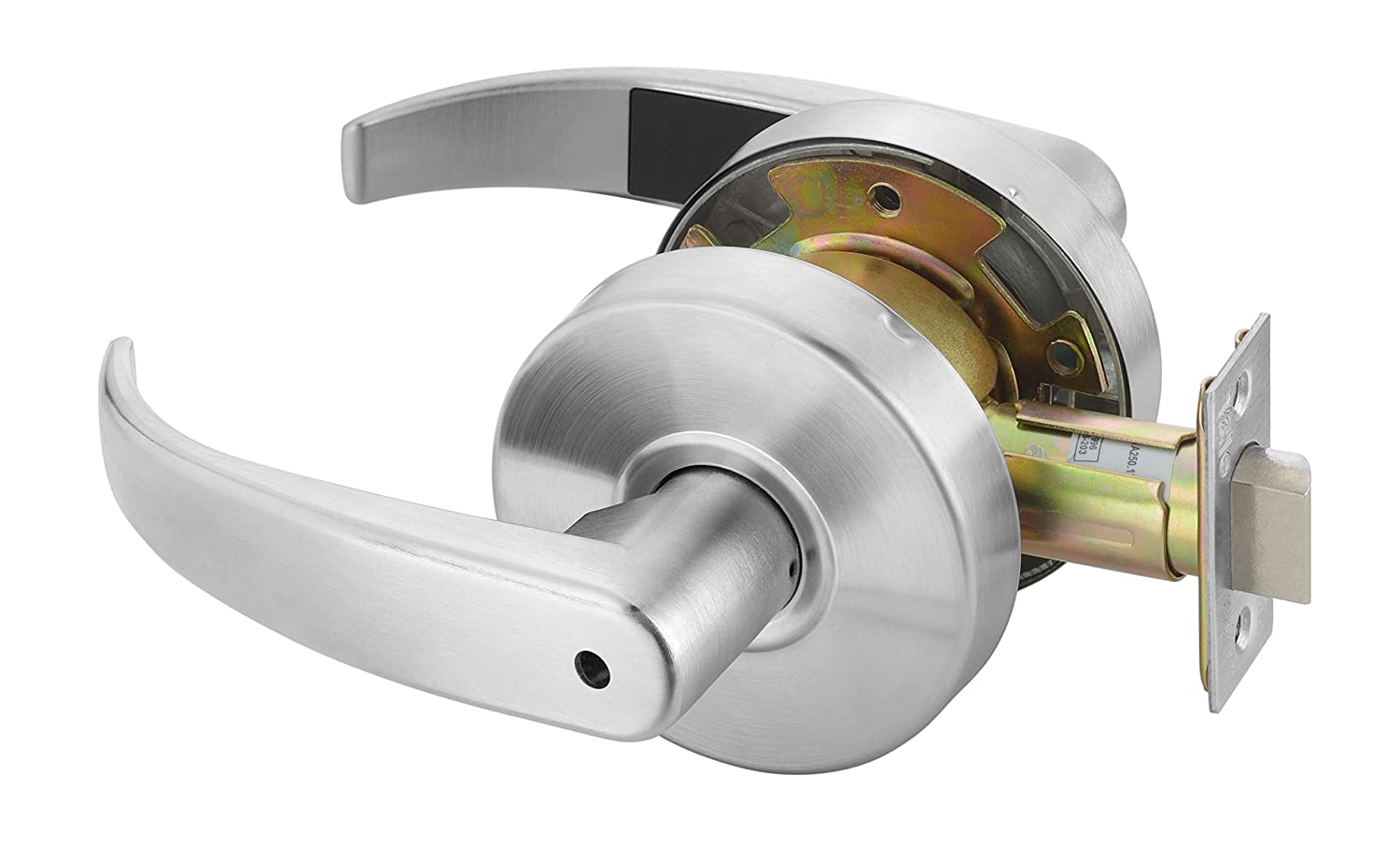 Yale PB4602LN LKST 497 Door Lever Lockset Privacy Yale Commercial Locks and Hardware Cylinder Lock