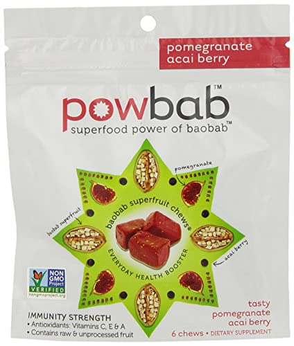 Powbab Baobab Superfruit Chews, 5 Count