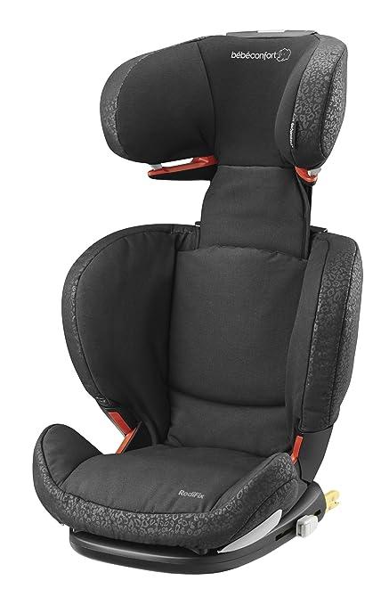 Bébé Confort RodiFix - Silla de coche grupo 2/3, desde 15 hasta 36 kg, instalación IsoFix, color negro