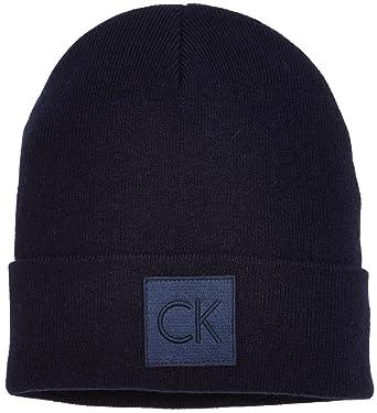 6e438103ae7 Calvin Klein Jeans Men s Ck Beanie (Blue Night 411)