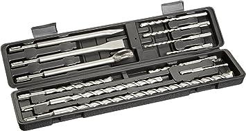 Famex - Estuche de brocas y cinceles para martillo con inserción SDS-Plus (12 piezas): Amazon.es: Bricolaje y herramientas