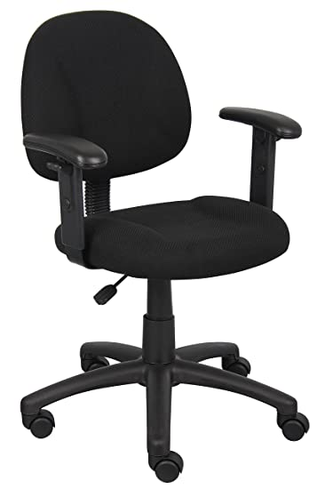 Lovely Amazon.com: Boss Office Products B316 BK Perfect Posture Delux Fabric Task  Chair With Adjustable Arms In Black: Kitchen U0026 Dining