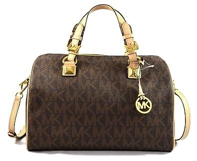 02ee23c54b05 ... coupon code for michael kors grayson large satchel signature pvc brown  17d1a dea30