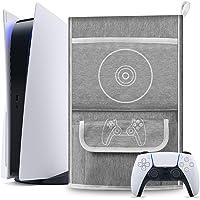 Esimen Capa protetora contra poeira para console PS5/PlayStation 5 Digital Edition, capa de viagem para o controle…
