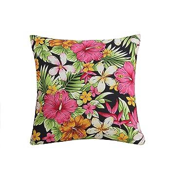 Amazon.com: Funda de cojín con estampado de flores Funif con ...