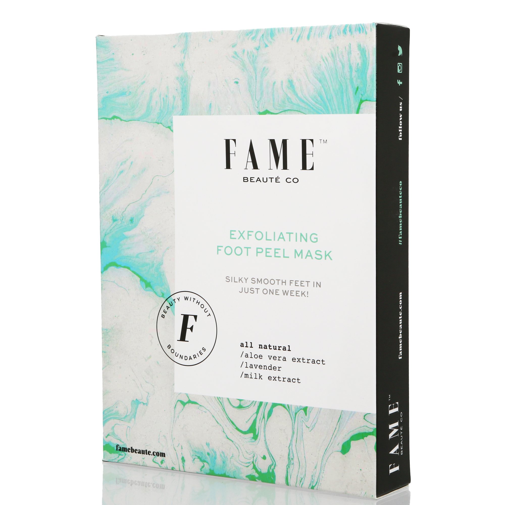 Foot Peel Mask by Fame Beauté Co - Foot Peeling Mask, Exfoliating Calluses and Dead Skin Remover, Repair Rough Heels, Get Soft Foot Fast Dry Skin Treatment, Lavender Scented