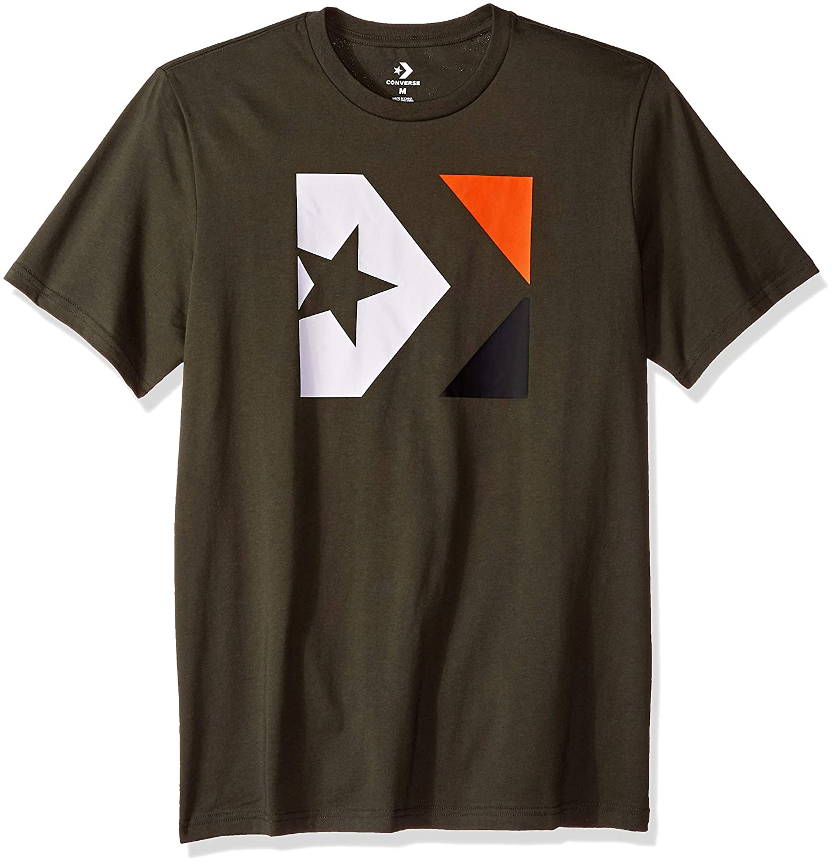 6e646f7275b1 Converse Men s Distressed Star Chevron Short Sleeve T-Shirt
