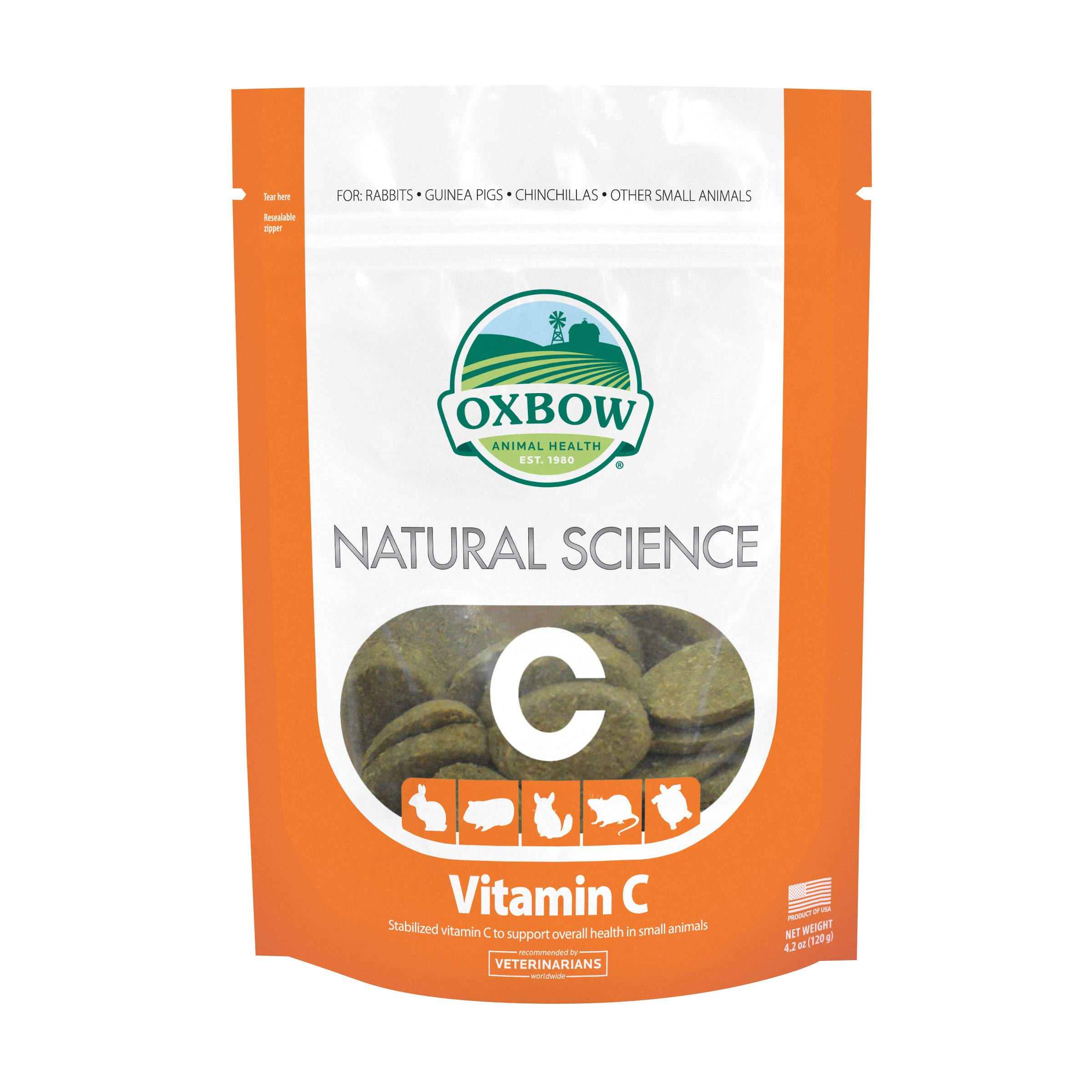 Oxbow Natural Science Vitamin C Supplement 60 tabs 120g