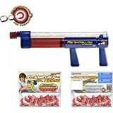 Bundle - 3 Items: Classic Marshmallow Shooter Gun with Two Bags of Foam Pellets