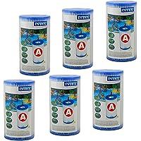 Intex - Juego de 6 Cartuchos de Filtro (Tipo de filtración: A)