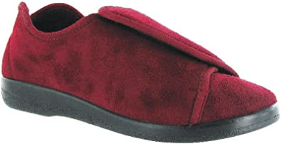6d0f7a3af98 GBS Walton Touch Fastening Slipper Ladies Slippers Textile - BURGUN ...