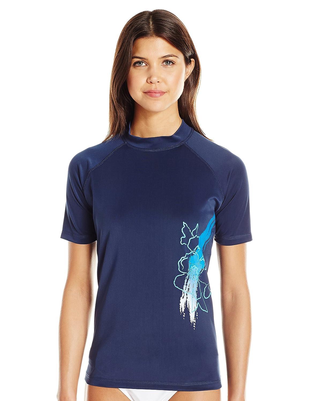 Kanu Surf womens Katya Upf 50+ Sun Protective Short Sleeve Rashguard Kanu Women's Swimwear 4497