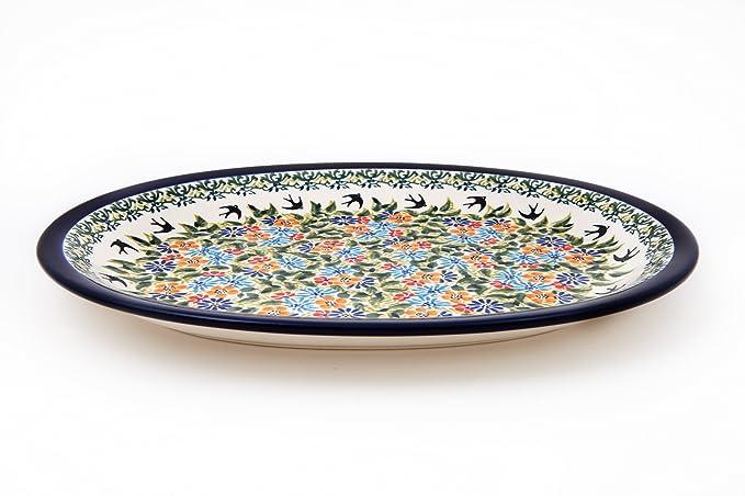 Original Bunzlauer Keramik Aufschnittplatte 29.1x22.1cm im Dekor 111