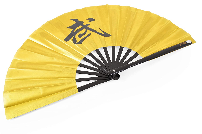 Abánico Tai Chi (Tai Ji Shan) 'Wu' - Diestro, Dorado ShenLong