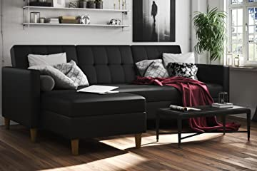 Hartford Storage Sectional Futon with Interchangeable Chaise