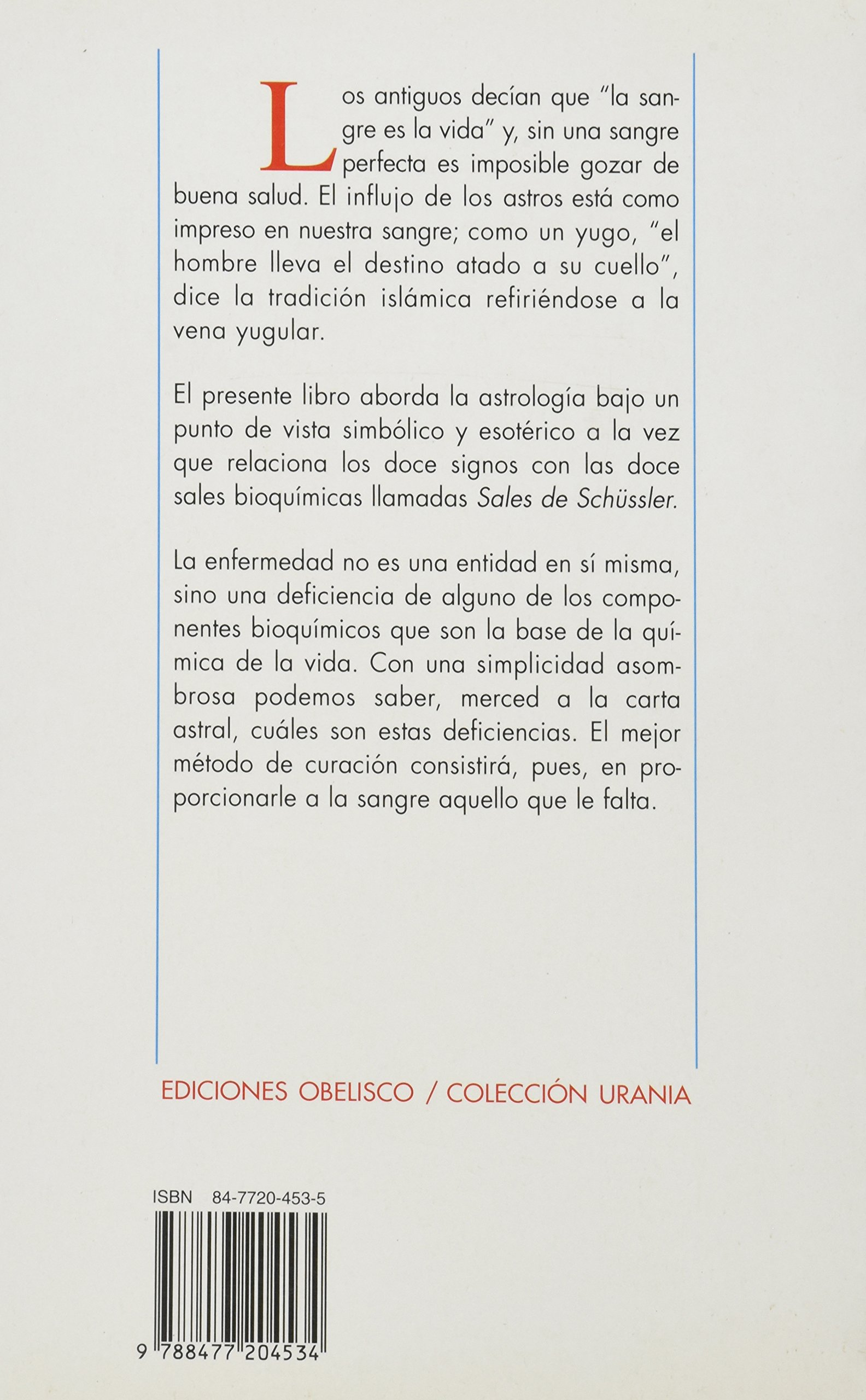 Astrologia y Sales Bioquimicas (Spanish Edition)
