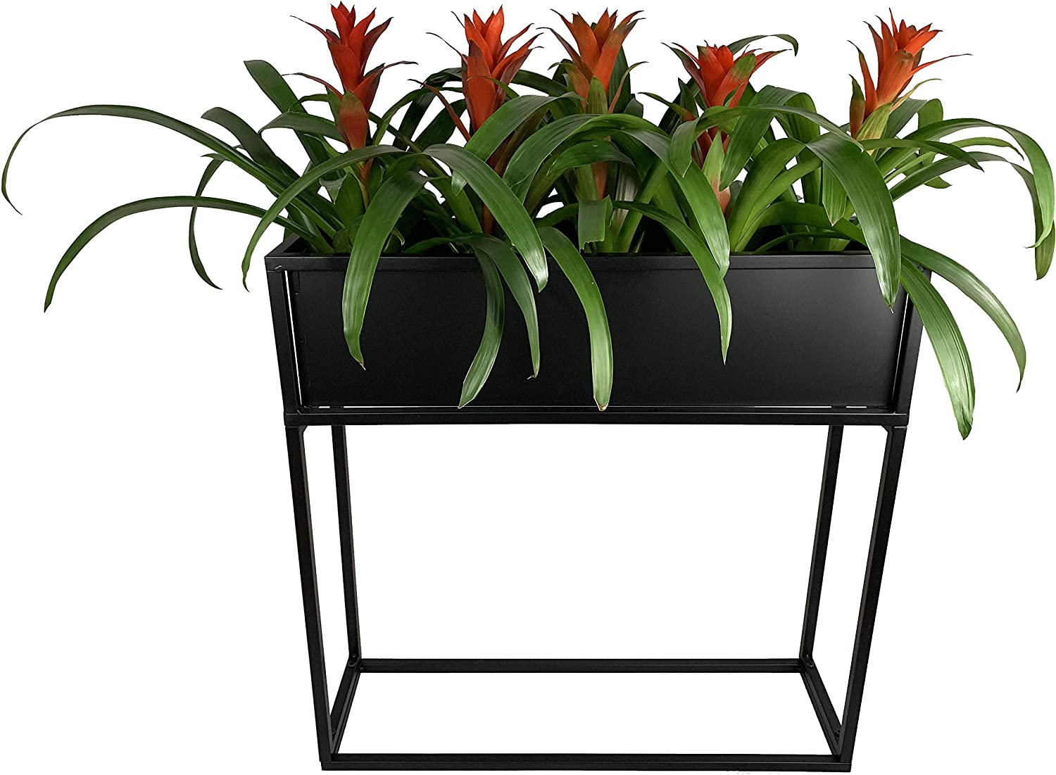 "Cocoyard Industrial Style Elevated Metal Planter Box. Modern Flower Box Succulent Planter Raised Planter Box, Great Gift for Plant Lover, Birthday, and Holidays (Tall, 28"")"